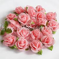 Головка розы, св.розовый, 3 см