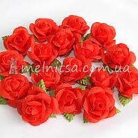 Головка розы, красный, 3 см