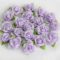 Головка розы, св.сиреневый, 3 см