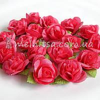 Головка розы, малиновый, 3 см
