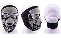 Маска лицевая ветрозащитная для лица MS-4344 (неопрен, черный, Скелеты)