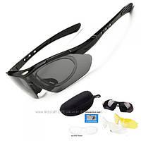 Тактические поляризованные очки с 3 линзами и защитой UV400