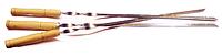 Шампур с деревянной ручкой плоский сталь 3 мм