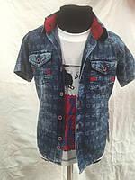 Рубашка джинсовая на мальчиков