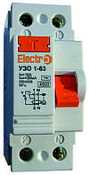 Устройство защитного отключения УЗО 1-63 2P 25А 100mA Electro
