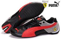 Женские кроссовки Puma Ferrari (пума феррари) красно-черные
