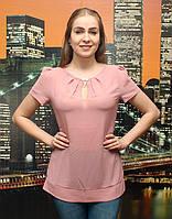 Блузка с разрезом и украшением из камней