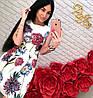 Жаккардовое платье в крупные цветы, фото 2