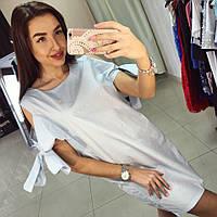 Хлопковое платья с завязками