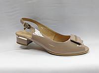 Босоножки  на низком каблуке  Erisses (2 цвета).Большие размеры.