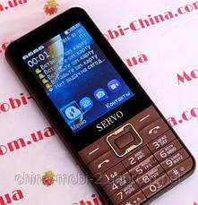 Телефон Servo V8100 -  4 sim, brown +чехол, фото 2