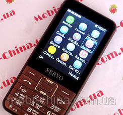 Телефон Servo V8100 -  4 sim, brown +чехол, фото 3