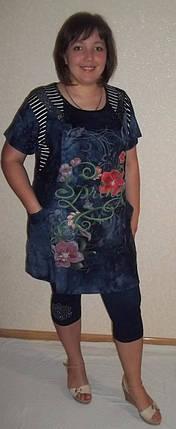 Летний костюм туника+бриджи р.48-58, фото 2
