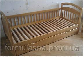 Кровать подростковая Арина с задней перегородкой и ящиками, фото 2