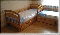 Кровать подростковая Арина с задней перегородкой и ящиками