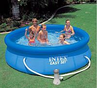 Надувной бассейн в дом Intex Easy Set Pool, 305х76 см, с фильтрующим насосом
