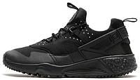 Мужские кроссовки Nike Air Huarache Utility, Черные, найк аир хуарачи