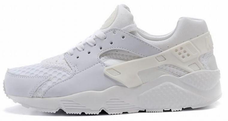 "Женские кроссовки Nike Air Huarache ""Triple White"" 318429 111, Найк Аир Хуарачи"