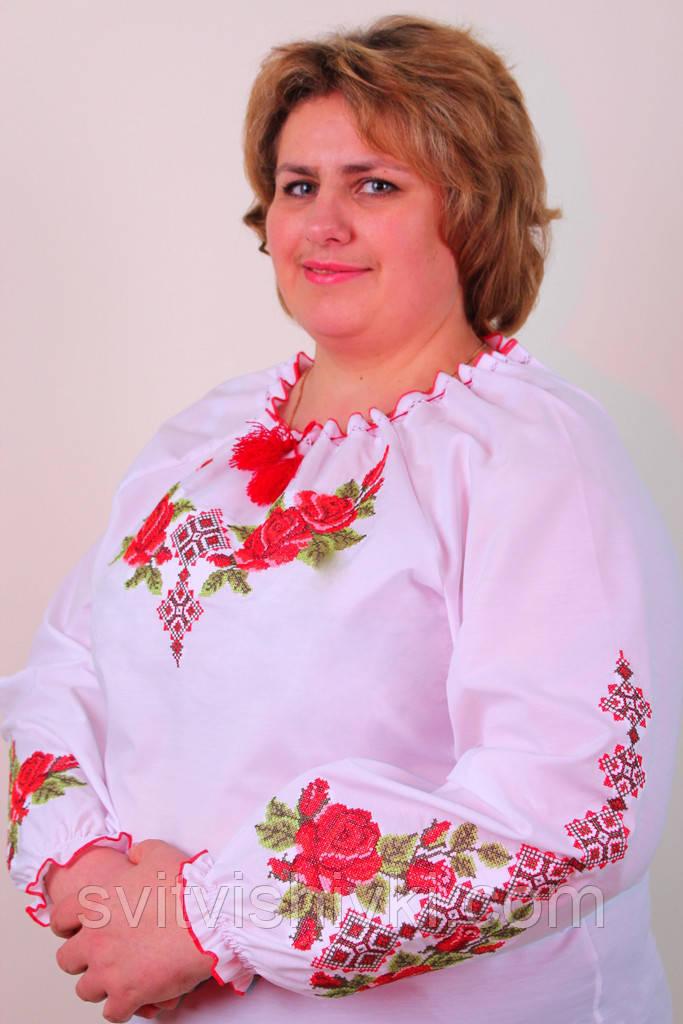 Жіноча вишиванка на великих жінок