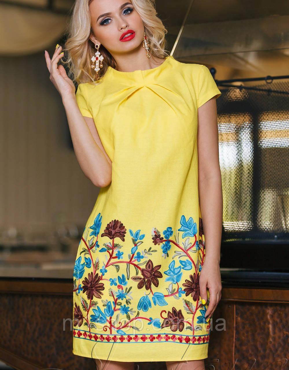 409a2012990addf Летнее платье-туника | Инга jd Желтый - « m1shop » женская одежда в Харькове