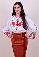 Вышитая женская блуза с оригинальным орнаментом