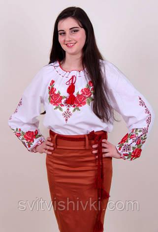 Вышитая женская блуза с оригинальным орнаментом, фото 2