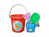 Детский набор для песочницы №1 013555 Фламинго тойс, оранжевый