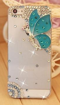 Пластиковый чехол с бабочкой для IPhone 5/5s Swarovski