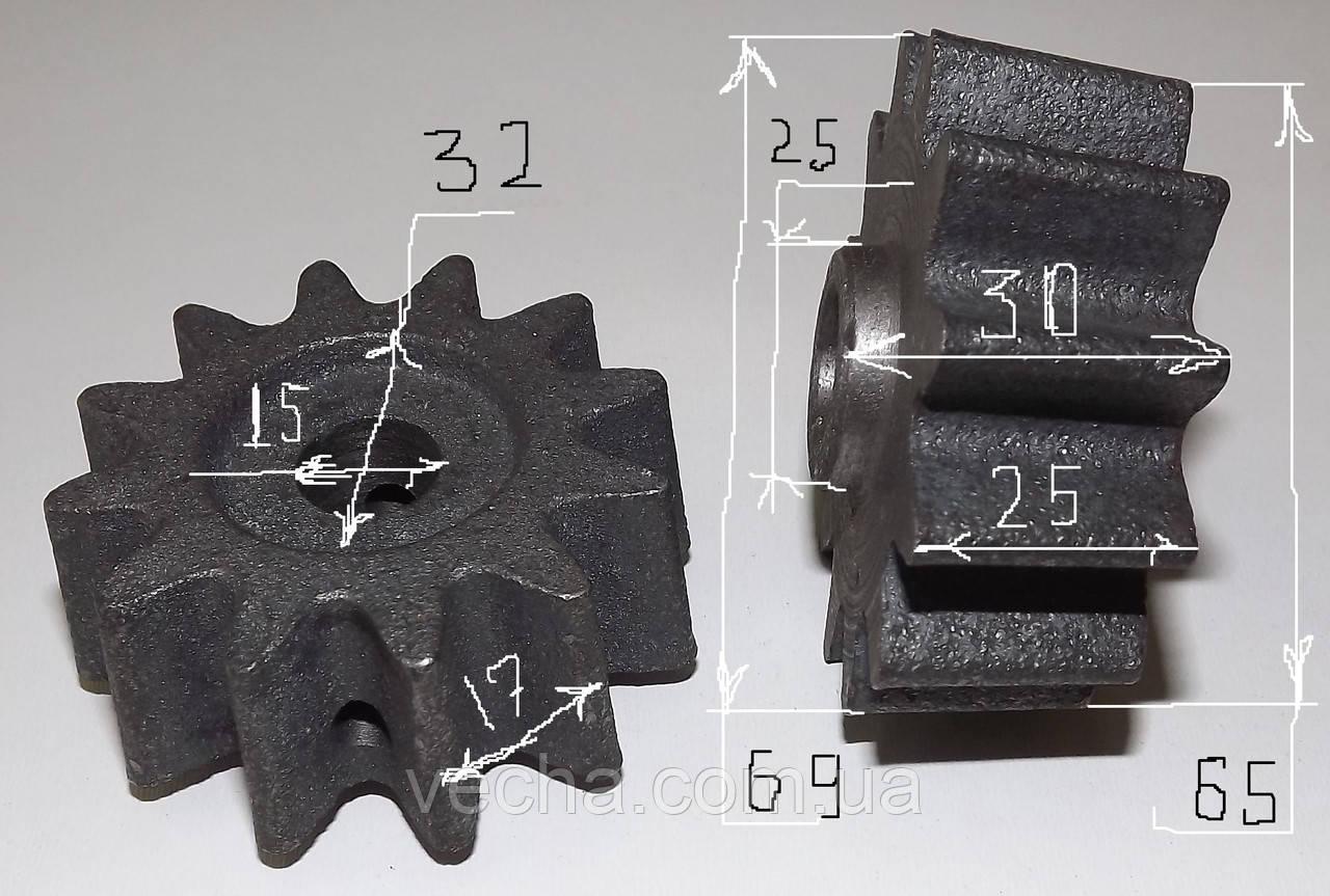 Шестерня к бетономешалке Ростех 12 зубов