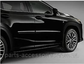 Lexus RX350 RX 2016+ молдинги на двери передние задние цвет Eminent White Pearl 085