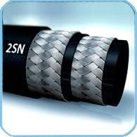 Рукав высокого давления - DN25мм 2 стальные оплётки