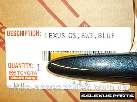 Молдинги на двери передние задние Lexus GS GS350 GS450H 2012-17 цвет Meteor Blue (8W3) новые оригинал