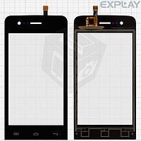 Сенсорный экран (touchscreen) для Explay Hit Phone, черный, оригинал