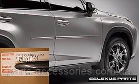 Lexus NX NX200T NX300H 2014-17 молдинги на двери передние задние цвет Nebula Gray (1H9) новые оригинал