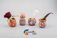 Керамические вазы(маленькие) с веселой разрисовкой