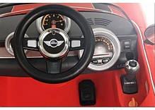 Детский электромобиль Geoby Mini Cooper S W456EQ красный, чехол эко-кожа, пульт дистанционного управления, фото 3