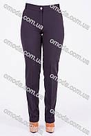 Женские классические брюки с манжетами, Наоми черного цвета