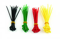 Стяжки cablexpert nct-100 100мм / 2.5мм, 4 цвета, 100шт в упаковке, самоблокировка