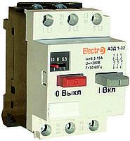 Автоматический выкл. защиты двигателя АЗД 1-32 3Р 2,5А-4А 380В Electro