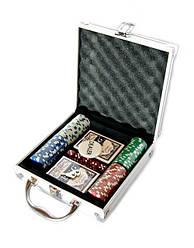 Покерный нобор в кейсе 100 фишек