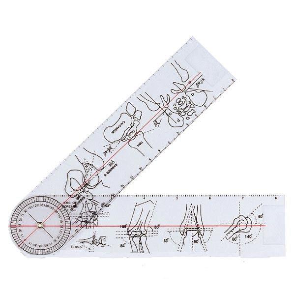 Гоніометр лінійка для вимірювання рухливості суглобів 380 мм 360°