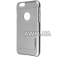 Чехол-накладка Motomo для Apple iPhone 6 / 6S стальной