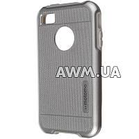 Чехол-накладка Motomo для Apple iPhone 4 / 4S стальной