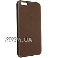 Чехол-накладка Leather Case для Apple iPhone 6 plus / 6S plus коричневый
