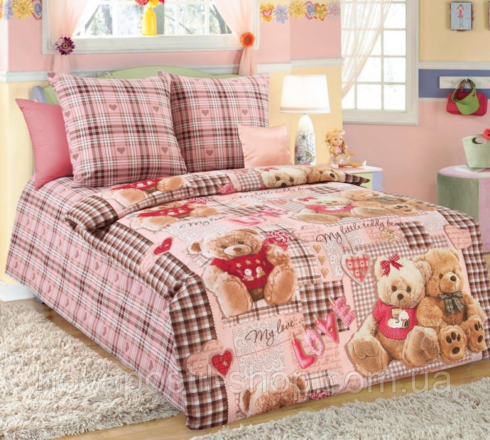 Ткань для детского постельного белья, бязь Плюшевые мишки