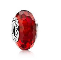 Стекло Мурано Красный копия оригинала 1:1 , пандора серебро