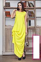 Нарядное воздушное платье в пол Желтый