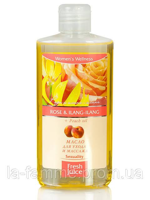 "Масло для ухода и массажа Rose&Ilang-ilang  Peach oil 150мл ""Fresh Juice"""