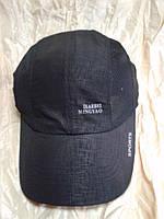 Бейсболка  из плащевки с элементами сетки цвет черный