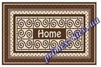 """Безворсовый придверный коврик-рогожка """"Home"""" - цвет коричневый"""